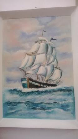 Picturi maritime navale Vaporul pe valuri