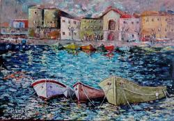 Picturi maritime navale Ancorate