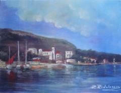 Picturi maritime navale Peisaj balchik