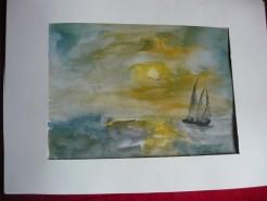 Picturi acuarela Inceput de furtuna