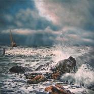 Picturi maritime navale Corabie in larg