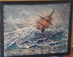 Picturi maritime navale Calator pe valurile vietii