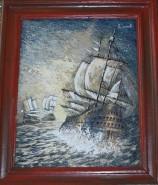 Picturi maritime navale Corabie in larg 2