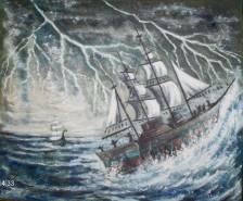 Picturi maritime navale Dezlantuire