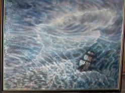 Picturi maritime navale Lupta cu marea