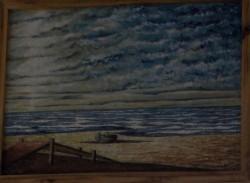 Picturi maritime navale Pe tarm