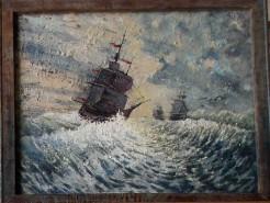 Picturi maritime navale Poveste cu pirati