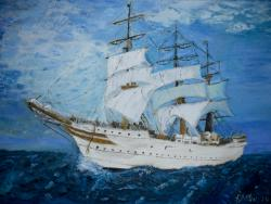 Picturi maritime navale Vas cu panze