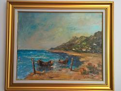 Picturi maritime navale Asteptare.