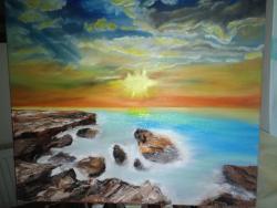 Picturi maritime navale Apus de soare 2