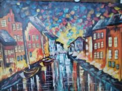 Picturi maritime navale Canal navigabil