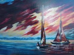 Picturi maritime navale Intrecerea