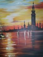 Picturi maritime navale Noaptea pe mare
