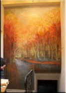 Picturi murale Padure aurie