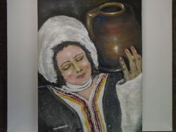 Picturi cu potrete/nuduri Fata dobrogeana