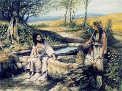 Picturi religioase Isus la fantana