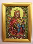 Picturi religioase Icoana maica domnului cu vitraliu