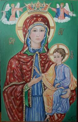 Picturi religioase Maica Domnului si Pruncul Iisus, pictura religioasa
