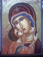 Picturi religioase Maica domnului detaliu