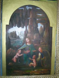 Picturi religioase Madonna cu stanci