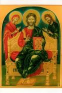Picturi religioase Iisus pe tron