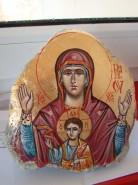 Picturi religioase Icoana maica domnului cu pruncul