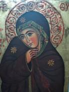 Picturi religioase Maica cu fusul athos