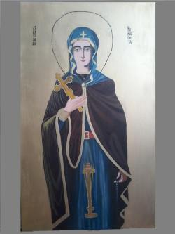 Picturi religioase Reproducere ic. Sf. Parascheva  - Privirea vesniciei ( parintele Arsenie Boca)