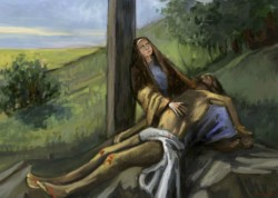 Picturi religioase Isus coborat de pe cruce