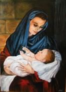 Picturi religioase Maria cu pruncul in brate