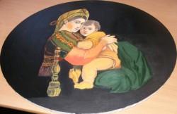 Picturi religioase Madona cu scaunul