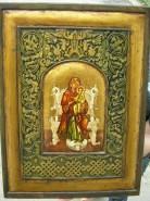 Picturi religioase Icoana maica domnului in jilt