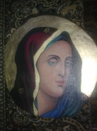Picturi religioase Maica sfanta cu esarfa2