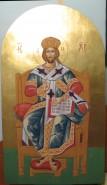 Picturi religioase Iisus pe tron iconostas