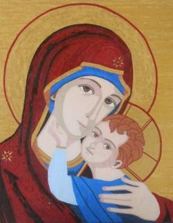 Picturi religioase Mama cu Pruncul