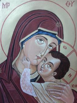 Picturi religioase Fecioara cu pruncul .,