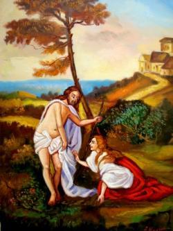 """Picturi religioase Iisus si Maria Magdalena 2"""" Nu ma atinge"""""""