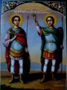 Picturi religioase Tablou sf.gheorghe si sf. dimitrie