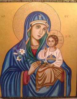 Picturi religioase Maica Domnului si pruncul Isus