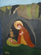 Picturi religioase Fecioara maria si pruncul iisus