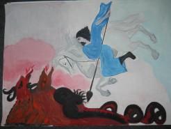 Picturi religioase Sfantul gheorghe si balaurul