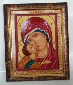 Picturi religioase Maica Domnului cu pruncul pictura