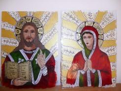 Picturi religioase Isus hristos si maica domnului