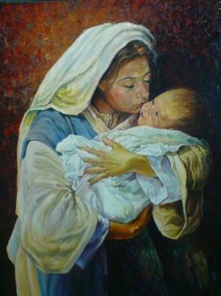 Picturi religioase maria cu pruncu 1