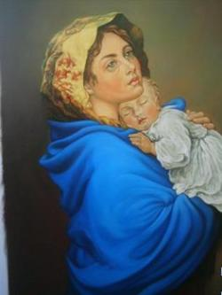 Picturi religioase maria cu pruncu 2