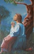 Picturi religioase  iisus in padurea ghetsemani