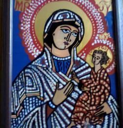 Picturi religioase Icoana pe sticla - Maica Domnului cu Pruncul III