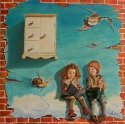 Picturi surrealism Bedtime stories