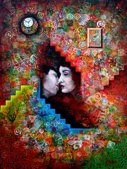 Picturi surrealism El Beso