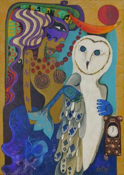 Picturi surrealism Zbor in miez de noapte